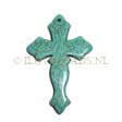 GEMSTONE PENDANTS – CROSS PENDANT 29X44MM TURQUOISE